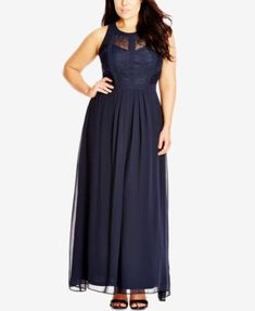 City Chic Plus Size Sleeveless Maxi Dress $119.00 City Chic has you covered for your next formal invite with this gorgeous, sleeveless plus size maxi dress.