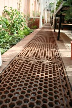 Cast iron floor grids really are the perfect floor in your greenhouse. Heating pipes beneath is ideal in larger greenhouses