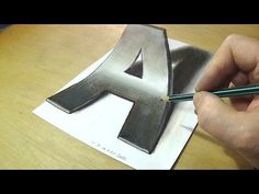 How to Draw 3D Letter A - Trick Art Drawing - Anamorphic Illusion - YouTube