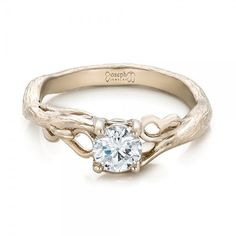 We have the perfect custom settings for your brilliant, beautiful diamond. Browse our extensive collection of solitaire engagement rings and design your own online or in Seattle, Bellevue. Organic Engagement Rings, Popular Engagement Rings, Engagement Rings Round, Beautiful Engagement Rings, Engagement Ring Styles, Designer Engagement Rings, Solitaire Engagement, Solitaire Diamond, Joseph