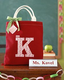 monogram a canvas tote
