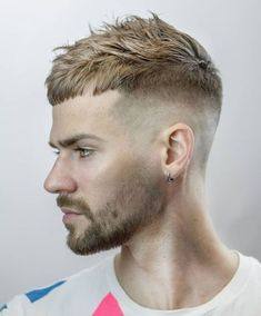 35 Best Haircuts and Hairstyles For Balding Men Guide) Messy Short Textured Cropped Top Haircut For Balding Men – Best Haircuts and Hairstyles For Balding Men: Good Haircut Styles For Men with Bald Spots, Thinning Hair and a Receding Hairline Haircuts For Balding Men, Mens Hairstyles With Beard, Cool Haircuts, Cool Hairstyles, Mens Crop Haircut, Fade Haircut, Hair Men Style, Hair And Beard Styles, Short Hair Styles Men