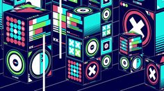 """This is """"blockpile.one (loop)"""" by beeple on Vimeo, the home for high quality videos and the people who love them. Progressive House, Animation Background, Music Industry, Dubstep, Motion Design, Dance Music, Electronic Music, Motion Graphics, Edm"""