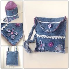 denim hand bags diy | DIY denim bags from old jeans | Min kreativa sida / My creative side