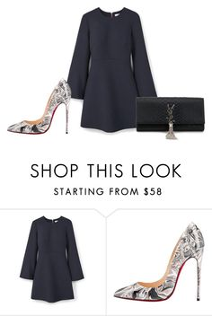 """Sem título #7001"" by ana-sheeran-styles ❤ liked on Polyvore featuring MANGO, Christian Louboutin and Yves Saint Laurent"