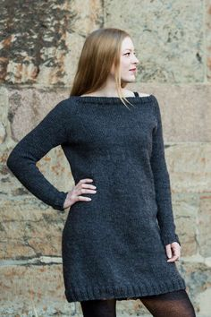 Grayling: versatile pattern to create your dream dress. Also includes pattern for separate cowl. K utter in DROPS Alaska.