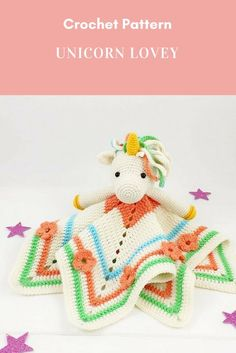 Ideas crochet baby toys amigurumi link for 2019 Crochet Unicorn Pattern, Crochet Lovey, Crochet Baby Toys, Crochet Gifts, Baby Blanket Crochet, Crochet For Kids, Crochet Pouch, Baby Patterns, Crochet Patterns