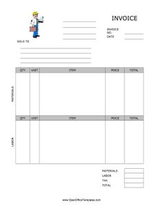 Blank Invoices To Print Fascinating This Printable Basic Invoice Is Deep Blue Has Detailed Information .