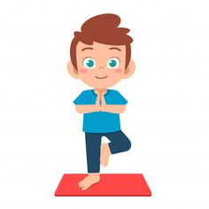 happy cute little kid boy practice yoga - Buy this stock vector and explore similar vectors at Adobe Stock Yoga For Kids, Exercise For Kids, Kid Character, Character Design, Yoga Vector, Chico Yoga, Children's Book Characters, Indian Boy, Kids Vector