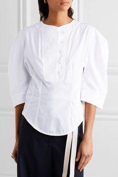 Stella McCartney - Dana Cotton-poplin Blouse - White - IT40