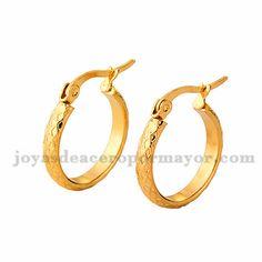 3*19mm argollas de dorado en acero para mujer-SSEGG504362