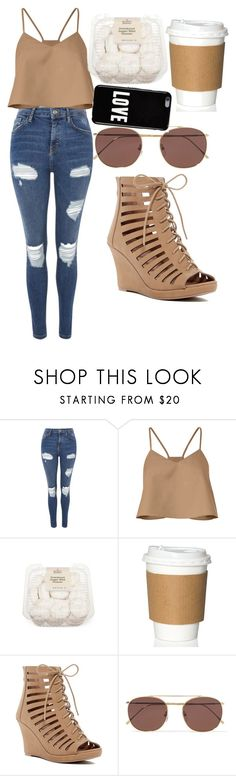 """""""Morning Breakfast"""" by nohemylane ❤ liked on Polyvore featuring Topshop, TIBI, Top Moda, Illesteva and Givenchy"""