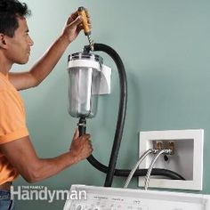 Lint from the washing machine can really mess up your septic system. Install a lint trap to filter it out.