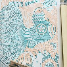 This beautiful artist's almanac from @essie_letterpress will be @bennettcontemporary's art fair (see posts below for fair details)