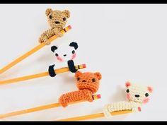 Pencil Crochet Accessories / Kawaii Amigurumi Pencil Topper / Back to School Pencil Accessories. Crochet Patterns Amigurumi, Amigurumi Doll, Crochet Dolls, Knit Crochet, Crochet Pencil Case, Pen Toppers, Kawaii Crochet, Crochet Videos, Crochet Gifts