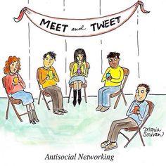 LOL *Anti-Social #Networking. #SocialMediaHumor