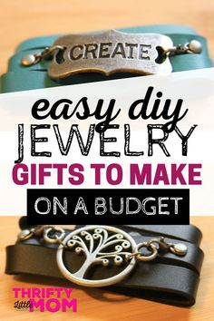 Make these low cost DIY jewelry projects - perfect for gifts! These necklaces and bracelets are easy to make and so cute! Make these low cost DIY jewelry projects - perfect for gifts! These necklaces and bracelets are easy to make and so cute! Diy Jewelry Gifts, Diy Jewelry Unique, Diy Jewelry To Sell, Diy Jewelry Holder, Diy Jewelry Projects, Diy Jewelry Making, Diy Crafts To Sell, Jewelry Crafts, Handmade Jewelry