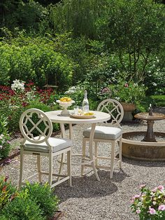 Misty Garden Three Piece Adjustable High / Low Bistro Table with Bar Stools by Tommy Bahama Outdoor Living at Jacksonville Furniture Mart Outdoor Rooms, Outdoor Dining, Outdoor Gardens, Outdoor Decor, Patio Bar Set, Patio Table, Outdoor Loveseat, 3 Piece Bistro Set, Beach Furniture