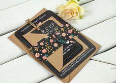 Floral Chalkboard Hochzeit Einladung Bundle von normadorothy