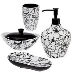 Black And White Design Is So Elegant The Colors Are Masculine Yet The Flowers Are Feminine Which Makes Black And White Floral Designs Perfect