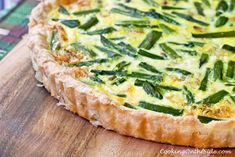 Asparagus Quiche (recipe from www.cookingontheside.com)