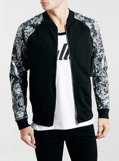 BlACK PANTHER SLEEVE BOMBER JACKET - Men's Jackets & Coats - Clothing