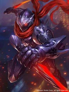 Mainly posting science fiction and fantasy stuff i find cool Fantasy Male, Fantasy Armor, Dark Fantasy Art, Arte Ninja, Ninja Art, Mobile Legend Wallpaper, Hero Wallpaper, Armor Concept, Concept Art