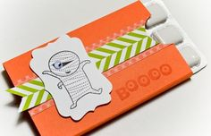 Gum Holder. Stampin' Up! Googly Ghouls