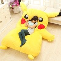 Large Size Cartoon Japan Anime Toys For Children Kawaii Soft Big Pikachu Plush Kids Christmas Gift Giant Stuffed Animals Doll sleeping bed