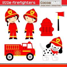 COCOA MINT Little firefighters