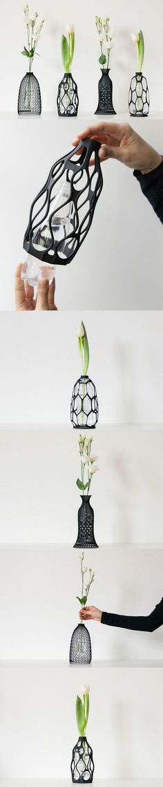 3D Printed Vases Offer Artistic Way to Repurpose Old Water Bottles…