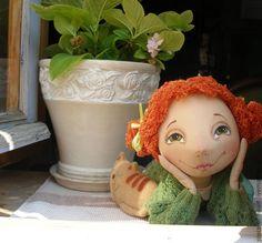 Купить мечты расцветают в моём сердце... - грунтованный текстиль, интерьерная кукла, мечты, рыжий, счастье