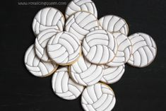 The Royal Icing Queen: Volleyball Cookies (Including a Tutorial on Preven...