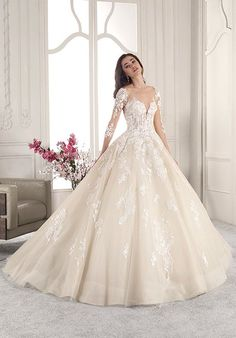demetrios 2019 starlight bridal long sleeves sweetheart neckline heavily embellished bodice princess ball gown a line wedding dress backless v back chapel train mv -- Demetrios 2019 Wedding Dresses Black Wedding Dresses, Wedding Dress Sizes, Boho Wedding Dress, Designer Wedding Dresses, Bridal Dresses, Lace Wedding, Bridal Lace, Gothic Wedding, Gown Wedding