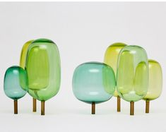 """""""THE WOODS"""" - glass objects by andreas engesvik"""