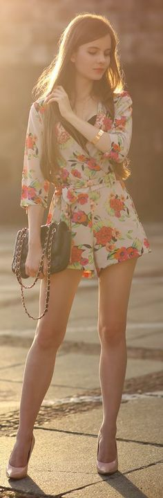 Help I Have Nothing To Wear Floral Romper Outfit Idea