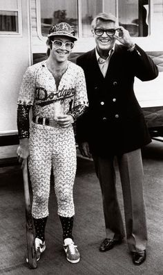 Elton John and actor Cary Grant