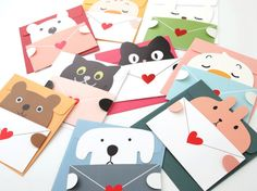 The Heart Animal Message Card is one of many adorable and functional products in the MochiThings collection.x Cute Animal Letter Paper & Envelope Mini Writing Stationery Message CardLembrancinhas EBD Cartinhas: EBD Infantil e Juniores : Writing paper Birthday Greeting Cards, Birthday Greetings, Animal Letters, Cute Stationary, Birthday Gifts For Best Friend, Cat Cards, Kawaii Shop, Animal Cards, Message Card