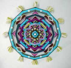 Ojo de Dios yarn mandala Summertime 18 inch in by JaysMandalas, $165.00