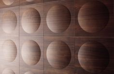 Pop Panels, walnut surface Design by Jaana Karell