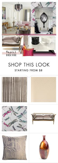 """""""Pastel Home Decor"""" by nicolevalents ❤ liked on Polyvore featuring interior, interiors, interior design, home, home decor, interior decorating, Cole & Son, Nina Campbell and Matthew Williamson"""