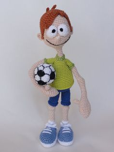 Sporty Stevie Amigurumi Crochet Pattern $6.20 on Etsy at http://www.etsy.com/listing/154230313/sporty-stevie-amigurumi-crochet-pattern