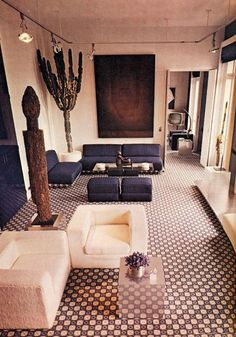 A soothing design and color scheme.   16 Chic 1970s Interiors You Would Want To Live In