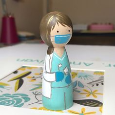 Use your dental benefits before the end of the year. Love painting these dentist peg dolls.