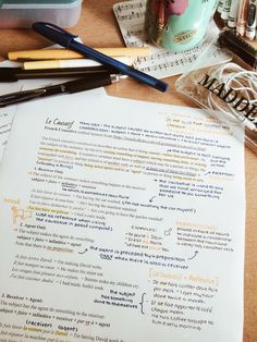 "cw0630: "" Reviewing French verbs and looking at the causative…can't wait for school to start! """