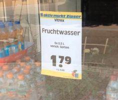Dieses Angebot, nach dem Du garantiert keinen Durst mehr hast. | 57 Supermarkt-Fails, die die Geschichte verändert haben