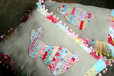 cute little applique pillow