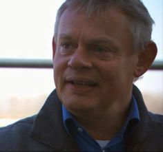Very Handsome close up of Martin Clunes.  Can you say screen saver!