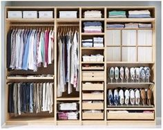 See how to organize mens closet with a closet system. I will give you some closet declutter tips as well. Check out how to finally get organized. Ikea Wardrobe, Ikea Closet, Wardrobe Furniture, Bedroom Wardrobe, Home Bedroom, Master Closet, Walk In Closet, Armoire Pax Ikea, Cleaning