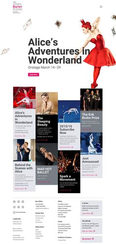 The National Ballet of Canada Website (I would prefer to link to their actual website, but this gives a better idea of the site design)